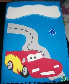 capa de caderno eva carros - Pesquisa Google