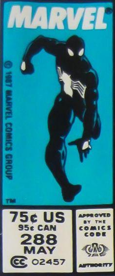 Marvel corner box art - Spider-Man (black suit)