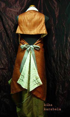 we love silk ! convertible double-sided silk cloth worn on top of silk skirt by Kika Karabela — AGATHI E.E.- KIKA. 49 , Arachovis str. 106 81 Athens, Greece CLOTHING STORE / agathi.ee@gmail.com / +30 2108223604