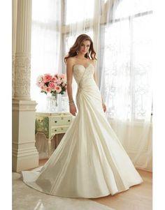szatén esküvői ruha ujjatlan backless kedvese nyakkivágással Hóekék