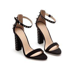 studded heels sandals, ZARA