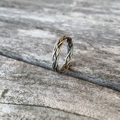 Narrow Celtic braid ring in sterling by FaerieEnchanting on Etsy