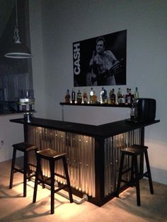 Want to see how we built this amazing home bar from a few pallets? Then check out my YouTube video explaining how we made if!  http://youtu.be/Rgwh9KiH-Rc