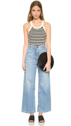 OUTFIT | Edith A. Miller Old Fashioned Soft Soul Tank + Flare cropped jeans