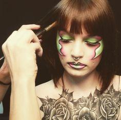 Backstage servizio fotografico make-up realizzato presso limbo cyclorama e studio fotografico Lumina Sense art lab a Roma