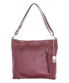 Bordeaux Leather Hobo