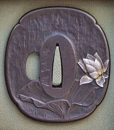 Postcards from the path: Lotus flower tsuba