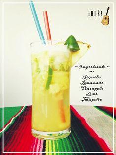 Pineapple jalapeño margarita #pineapple #jalapeno #margarita