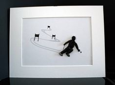 PISCES Pebble art skiers gift picture framed 30 x 40