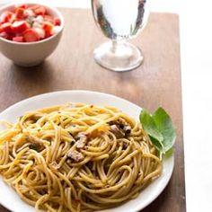 mushroom spaghetti bolognese by vegrecipesofindia