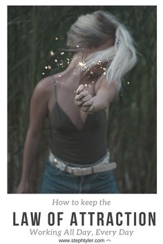The Law of Attraction is a power that is constantly working & although yes there are techniques and rituals that you can do to manifest and attract specifi