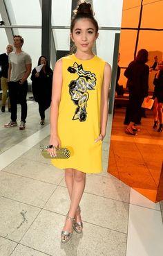 Rowan Blanchard at London Fashion Week