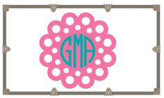 Wall Decal/Yeti Decal/ Camp Trunk Decals/ Vinyl Sticker/ Circle Dot Monogram by RusticGraceCo on Etsy