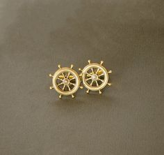 Men's Cufflinks Ship Wheel Cufflinks Nautical Military Sailor Steampunk Cufflinks Antique Brass Gifts for Him Men's Gifts