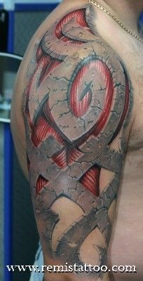 stone_tribal_tattoo by Remis Tattoo