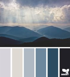 Color palate idea for Ryan's bathroom at home (minus the darkest blue)