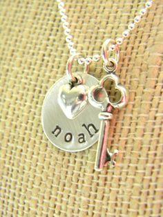 {simple starfish} jewelry - key to my heart valentine necklace, $62.00 (http://www.simplestarfish.com/key-to-my-heart-valentine-necklace/)