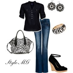 A fashion look from March 2012 featuring Mexx blouses, MANGO jeans and Thomas Wylde handbags. Browse and shop related looks.