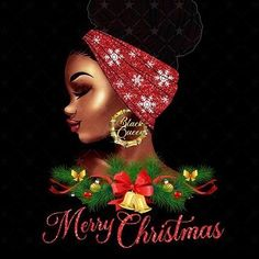Merry Christmas Images, Christmas And New Year, Christmas Ornaments, Afro Hair Art, Black Women Quotes, Black Art Pictures, Afro Puff, Afro Girl, Black Queen