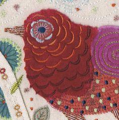 machine embroidery using wool, silk, velvet for sale £110 http://nancynicholson.blogspot.co.uk/