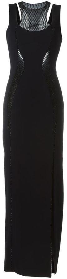 Versace beaded panel dress