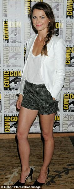 Shorts appeal: Keri Russell arrived in an elegant summer getup to promote her new movie Dawn Of The Planet Of The Apes