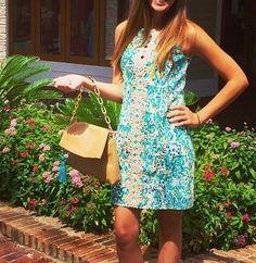 Lilly Pulitzer Ember Shift Dress in Escapades in the Everglades via Shop Destin Instagram