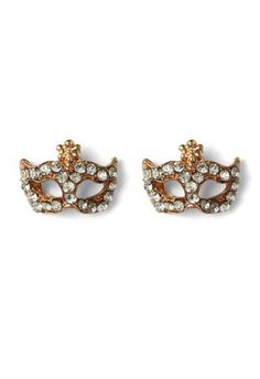 Party Mask Crystal Earrings