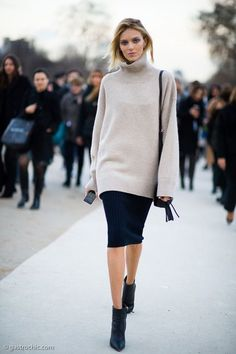 Sweater-and-Skirt Combos for fall