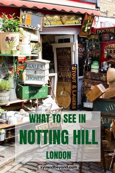Notting Hill is a definite must-do when in London. Notting Hill is London's prettiest neighbourhood & the outstanding Portobello Market. Europe Travel Tips, Travel Guides, Travel Destinations, Travel Uk, Travel Advice, Budget Travel, London What To See, Things To Do In London, Notting Hill London