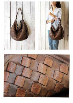 """Handmade woven leather bag """"INTRECCIATO 80"""" di LaSellerieLimited su Etsy"""
