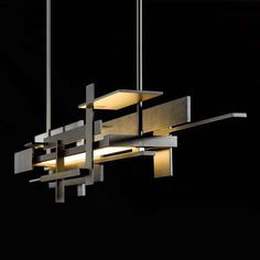Planar LED Linear Pendant Light by David Kitts, from Hubbardton Forge (inspired by Frank Lloyd Wright's Falling Water.)