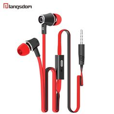 Langsdom JM21 Stereo Bass Earphone Earpieces Headset with MIC 3.5MM Hands-free for Apple Samsung Sony HTC Mp3 Tablet yotaphone 2 //Price: $2.46//     #gadgets