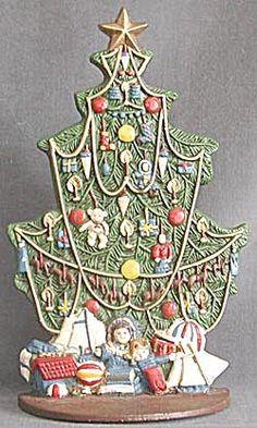 Vintage Metal Christmas Tree Doorstop