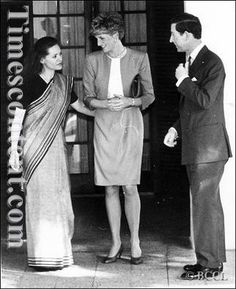 February 11 1992 Charles & Diana went to see the wife of the murdered Rajiv Ghandi, Sonia, who still lives under close security in Delhi.