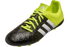 19bf053ddb0 adidas Kids ACE 15.4 FxG Soccer Cleats - Black and Solar Yellow Youth  Soccer Shoes,