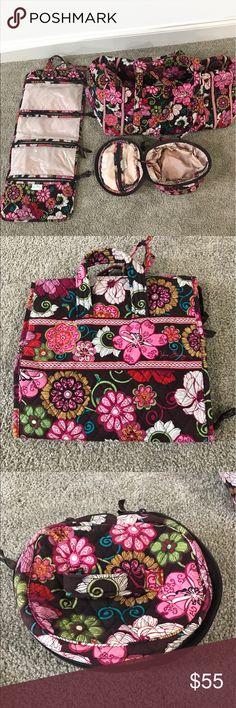 Vera Bradley Travel Set Vera Bradley Large duffel bag, makeup bag and hanging toiletry bag Vera Bradley Bags Travel Bags