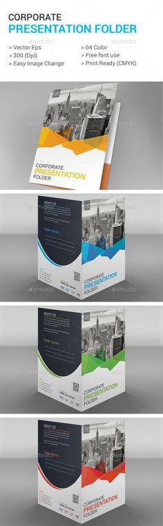 Presentation Folder Design Template - Stationery Print Template Vector EPS. Download here: http://graphicriver.net/item/-presentation-folder/16892212?s_rank=39&ref=yinkira