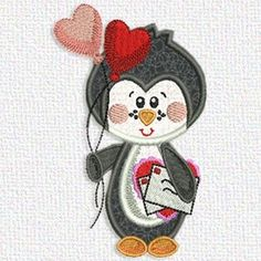 Today's free embroidery design from Adorable Applique is a penguin.