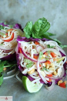 Thai Noodle Salad by Heather Christo. Fresh, Healthy and Delicious!