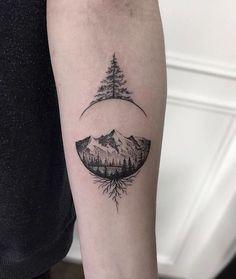 Tattoos for men, tattoo of tree, minimal tattoo, minimal tattoo of tree, tattoo of tree m Tattoos fo Cool Tattoos For Guys, Cute Tattoos, Body Art Tattoos, New Tattoos, Tree Tattoos For Men, Tatoo Ideas For Guys, Small Tattoos For Men, Tatoos, Images Of Tattoos