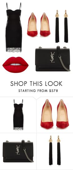 """Wedding day"" by sissy-galanou ❤ liked on Polyvore featuring La Perla, Christian Louboutin, Yves Saint Laurent and Lime Crime"