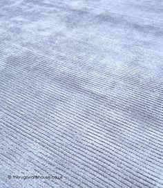 Reko Silver Rug (texture close up), a plain hand-woven viscose & cotton modern rug in grey http://www.therugswarehouse.co.uk/plain-rugs/reko-putty-rug.html … … #modernrugs #GreyInteriors #rugs