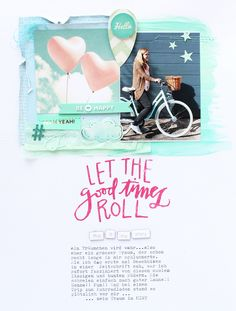 Steffi Ried Layout Let The Good Times Roll für In The Scrap #studiocalico #inthescrap