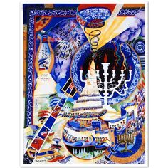 """Mouse over image to zoom      Raphael-Abecassis-Menorah-Embossed-Lithograph-Hand-Signed-New-w-COA     Raphael-Abecassis-Menorah-Embossed-Lithograph-Hand-Signed-New-w-COA  Have one to sell? Sell now Details about  Raphael Abecassis """"Menorah"""" Embossed Lithograph, Hand Signed New w/COA"""