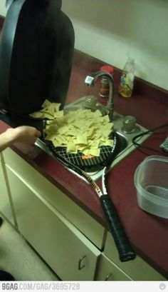 If ya use a tennis tacket to drain your pasta....Ya might be a redneck