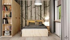 Tapeta ścienna w drzewa, ciekawa tapeta, dekoracje ścienne, sypialnia. Zobacz więcej na: https://www.homify.pl/katalogi-inspiracji/30131/6-pomyslow-aranzacji-domu-dla-milosnikow-roslin