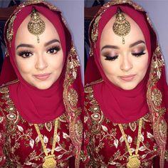 One of my fav makeovers ❤️❤️ she left the entire look upto me 💁🏽💁🏽 #realbride #lipamakeup #london #hijabibride #makeupartist #bridal #wedding #hijabi #asianmakeupartist #noedit #nofilter