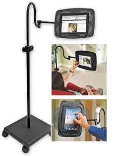 Levo eBook/Tablet Stand is like having someone hold your tablet.