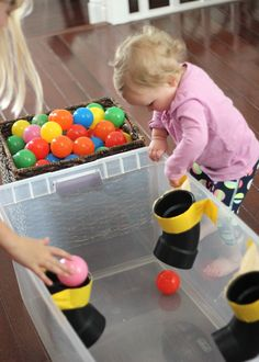 PVC Pipe Ball Drop for Kids - toddler room ideas Toddler Learning Activities, Baby Learning, Sensory Activities, Infant Activities, 8 Month Old Baby Activities, Learning Games, Baby Sensory Play, Baby Play, Toddler Play